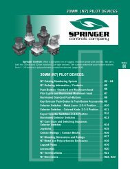 Catalog 2008 Sec H 30mm (N7) Pilot Devices - Springer Controls