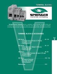 Catalog 2008 Sec V Terminal Blocks - Springer Controls