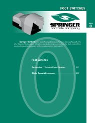 FOOT SWITCHES - Springer Controls