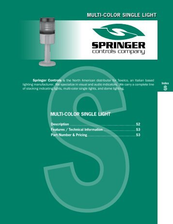 Catalog 2008 Sec S Multi-Color Single Light - Springer Controls