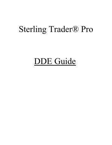 Sterling Trader® Pro DDE Guide