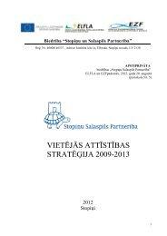 Vietējās attīstības startēģija - Stopiņu Salaspils Partnerība