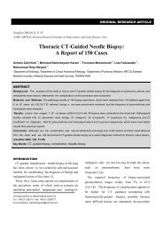 Thoracic CT-Guided Needle Biopsy: A Report of 150 Cases - Tanaffos