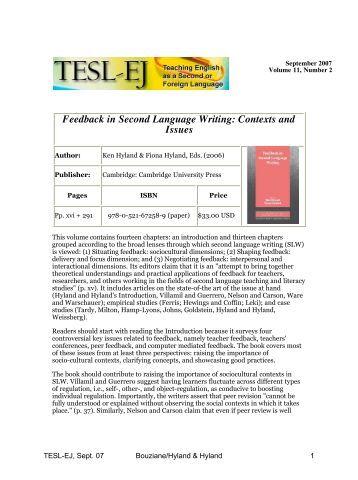 The oral corrective feedback english language essay