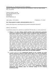 Vyjadrenie spoločnosti GTS Slovakia, a.s. k analýze