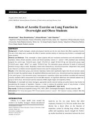 Effects of Aerobic Exercise on Lung Function in ... - Tanaffos