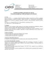 GBS IT s.r.o., Staničná 6/24, 07615 Veľaty
