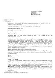Pripomienky spoločnosti Slovak Telekom, a.s. k analýze
