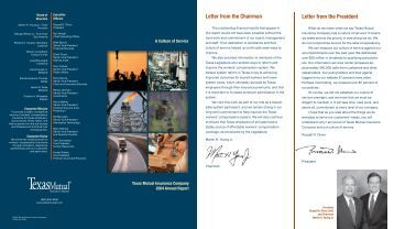 2004 Annual Report brochure (PDF) - TexasMutual