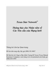 Texas Star NetworkSM - Texas Mutual Insurance Company