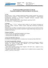 Technická špecifikácia účastníckych rozhraní Účastnícka prípojka ...