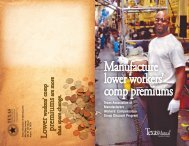 Manufacture lower workers' comp premiums - TexasMutual