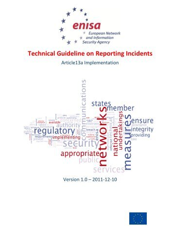 Technical Guideline on Reporting Incidents - enisa - Europa