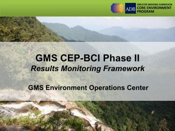 GMS CEP-BCI Phase II - GMS-EOC