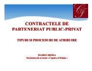 CONTRACTELE DE PARTENERIAT PUBLIC ... - Achizitii publice
