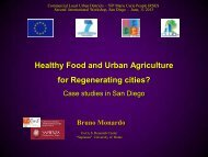 Healthy Food and Urban Agriculture for Regenerating cities? - CLUDs