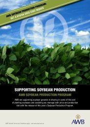 SUPPORTING SOYBEAN PRODUCTION - AWB Limited
