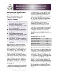 Unconstrained Diversification - Uhlmann Price Securities
