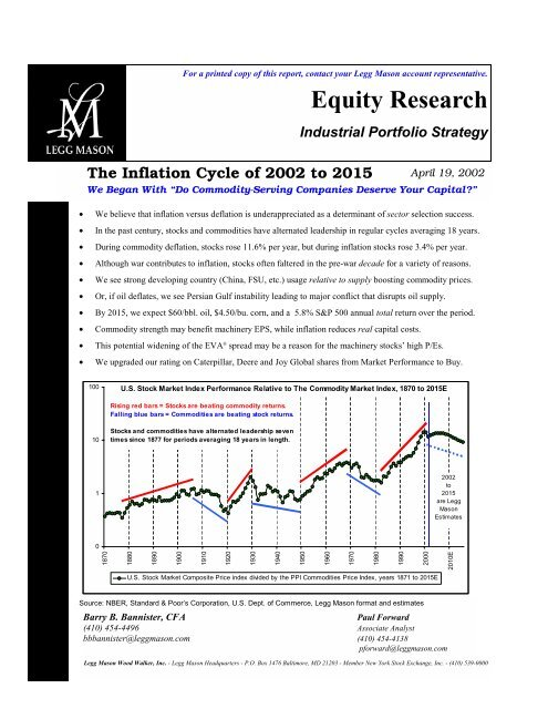 The Inflation Cycle of 2002 to 2015 - Uhlmann Price Securities
