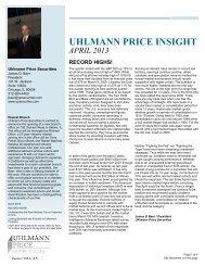 UHLMANN PRICE INSIGHT - Uhlmann Price Securities
