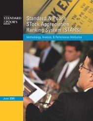 S&P STARS Performance White Paper - Uhlmann Price Securities
