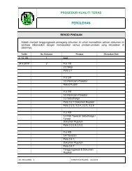PROSEDUR KUALITI TERAS PEROLEHAN - JPBD Selangor