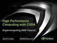 High Performance Computing with CUDA, Part of Supercomputing