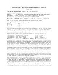 Syllabus for MATH 1823, Calculus and Analytic Geometry, Section ...