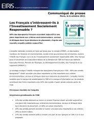 Communiqué de presse Les Français s'intéressent-ils à l ... - Eiris