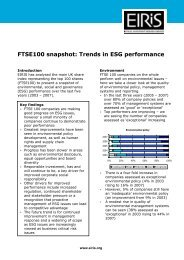 FTSE100 snapshot – Trends in ESG performance (2008) - Eiris