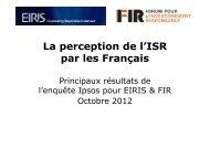 Microsoft PowerPoint - EIRIS-FIR r\351sultats sondage final_091012