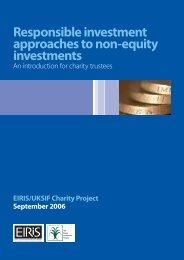 Responsible investment approaches to non-equity investments - Eiris