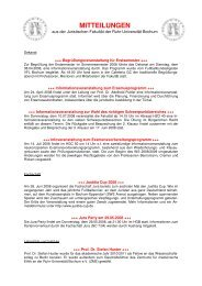 Ausgabe 5 (SoSe 2008) - Juristische Fakultät - Ruhr-Universität ...