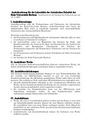 Ausleihordnung für Lehrstuehle - Juristische Fakultät - Ruhr ...