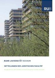 SoSe 2011 - Juristische Fakultät - Ruhr-Universität Bochum