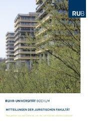 Mitteilungen DeR JuRistischen Fakultät - Juristische Fakultät - Ruhr ...