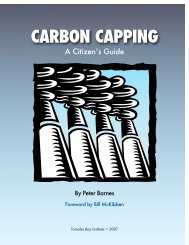 CARBON CAPPING - Environmental Research Foundation