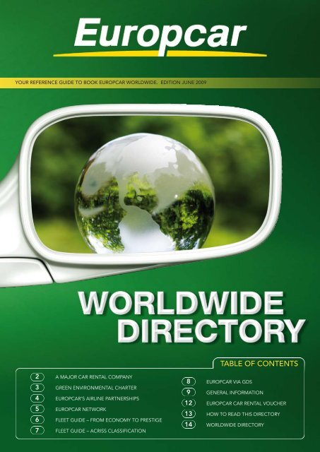 your reference guide to book europcar worldwide. edition