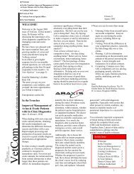 a bi-monthly electronic newsletter for the veterinary ... - Abaxis