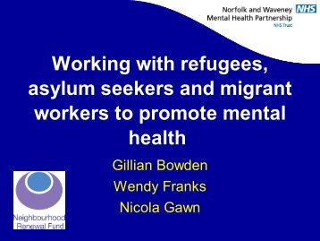 Working with refugees, asylum seekers and migrant workers to ...