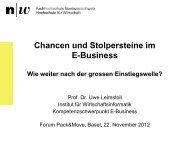 Chancen und Stolpersteine im E-Commerce - Fachhochschule ...