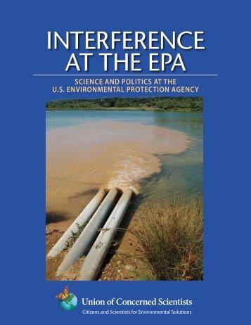 INTERFERENCE AT THE EPA - DeSmogBlog