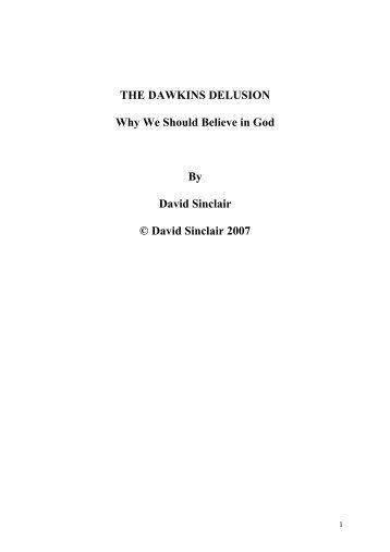 THE DAWKINS DELUSION