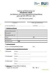 Antrag auf Zulassung zur - Juristische Fakultät - Ruhr-Universität ...