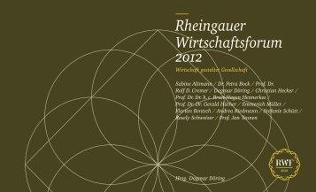 neue Wettbewerber - Rheingauer Wirtschaftsforums