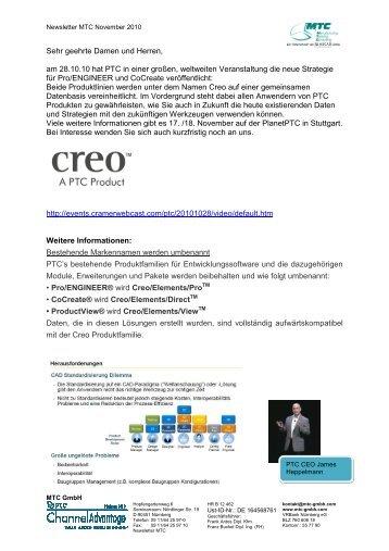 Newsletter MTC - MTC GmbH