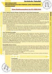Ausgabe 8 (WiSe 2009/2010) - Juristische Fakultät - Ruhr ...