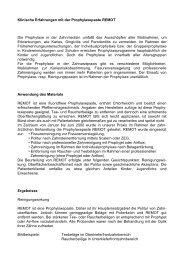 Klinische Erfahrungen mit der Prophylaxepaste ... - zahn-hilfe.de