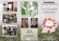 Flyer Lotus-Care-Konzept - Arztpraxis und Praxisklinik Domnick