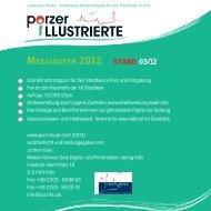 Mediadaten Porzer Illustrierte - Porz-Illu.de